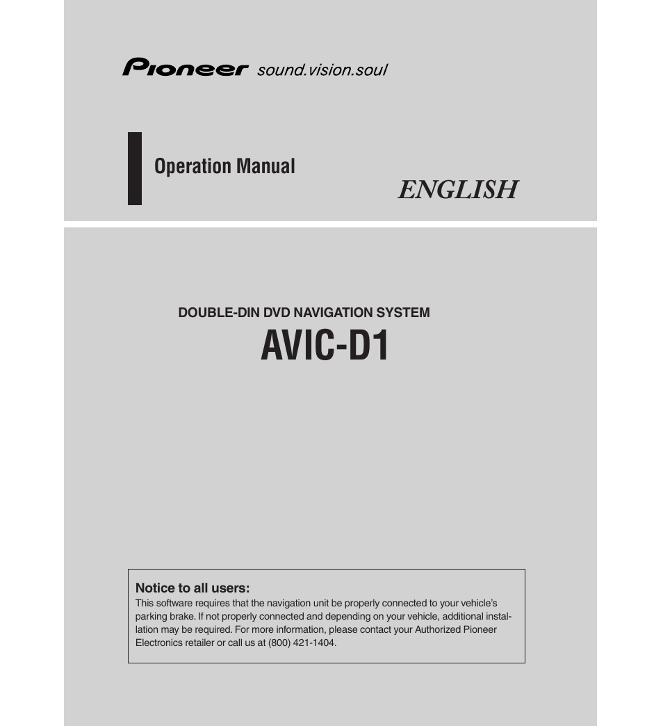 Pioneer Avic N1 Installation Manual Free Wiring Diagram For You Avh P4000dvd Owners D1 Product User Guide Instruction Parts List Schematic