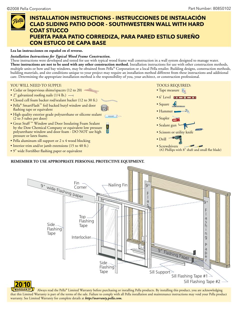 Sliding Glass Door Flashing Details Glass Door Ideas