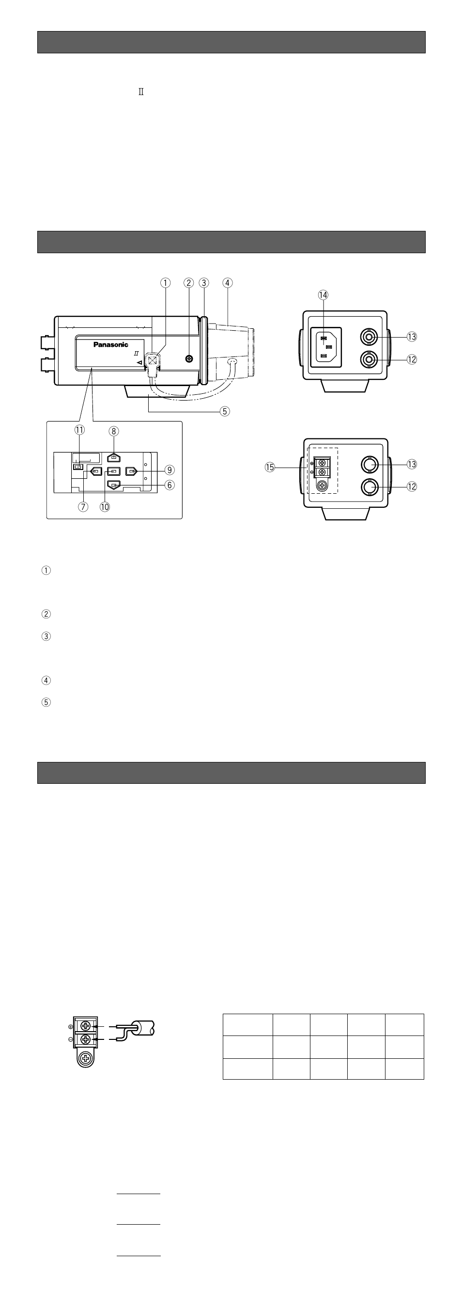 Connections Panasonic Wv Cp464 User Manual Page 2 11 Genlock Wiring Diagram