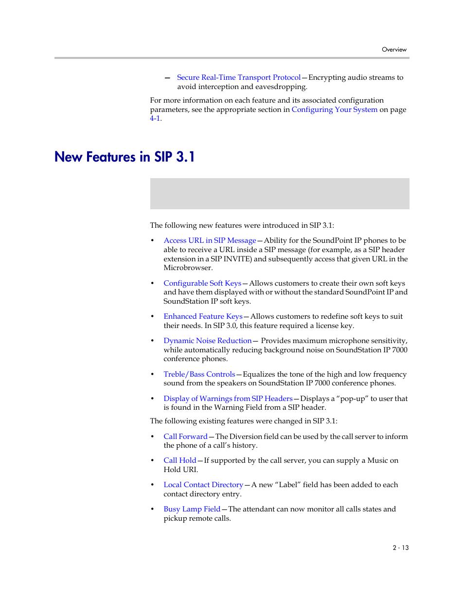 new features in sip 3 1 new features in sip 3 1 13 polycom rh manualsdir com polycom ip 601 manual