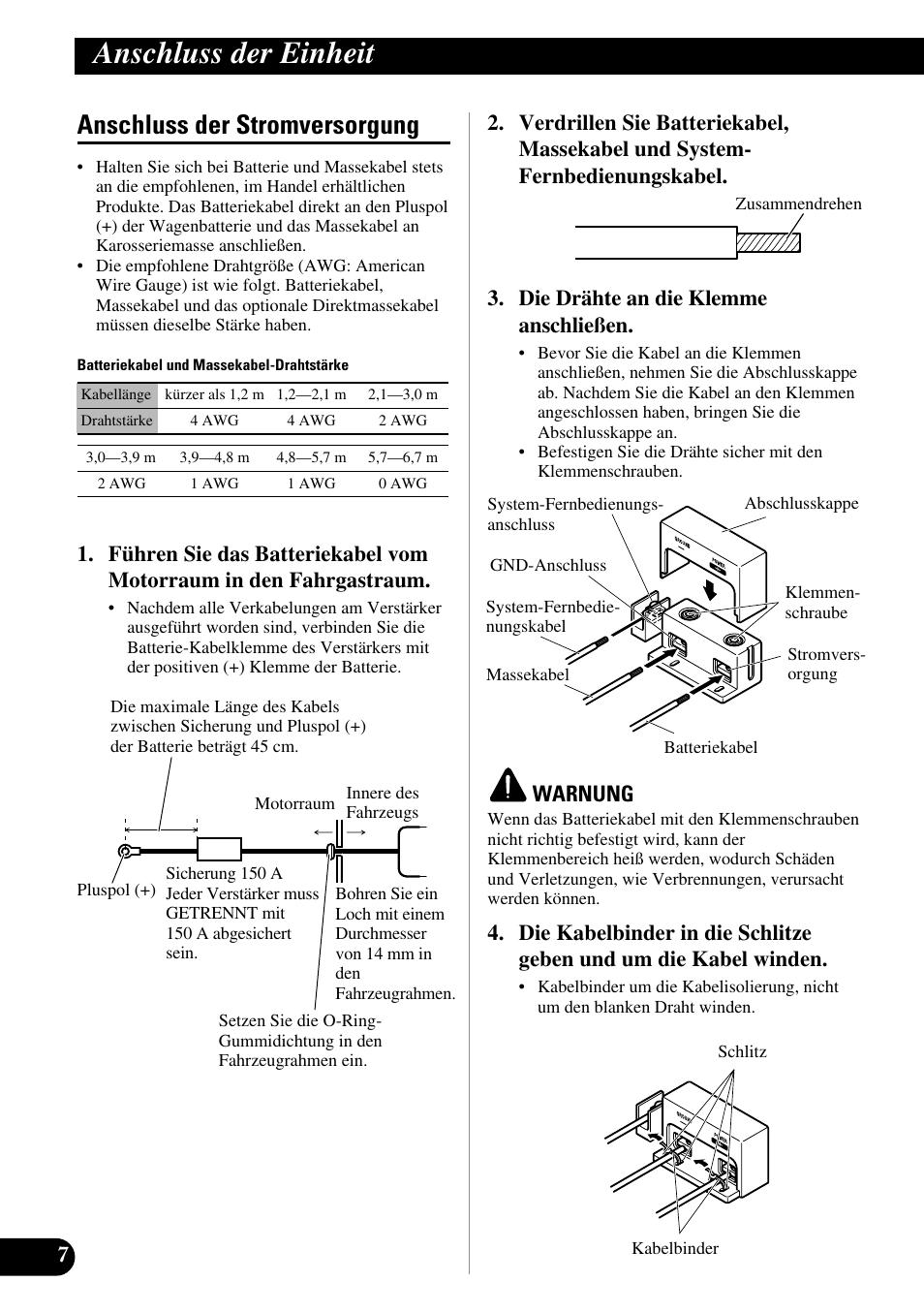 Nett Drahtstärke Der Verstärker Galerie - Elektrische Schaltplan ...