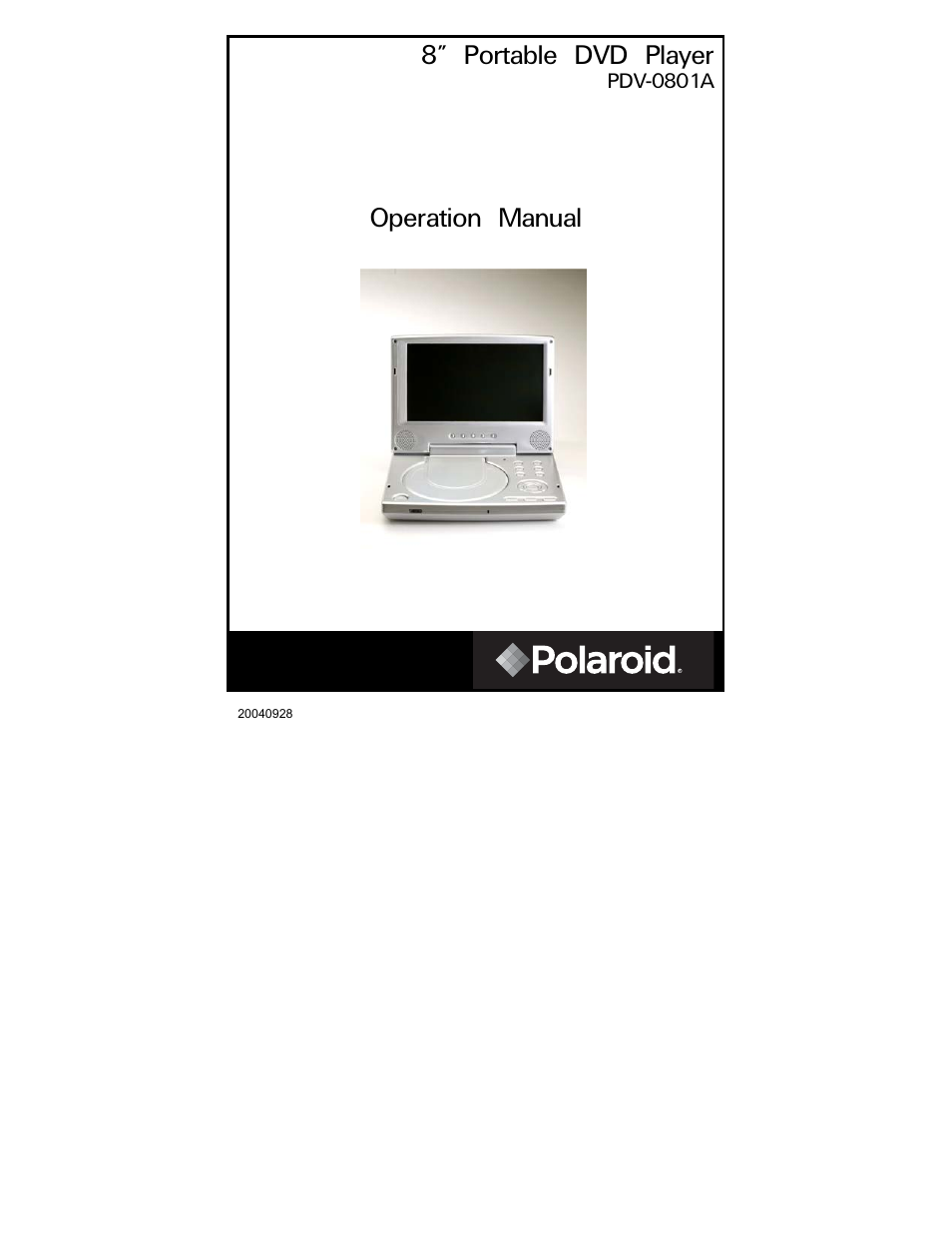 polaroid pdv 0801a user manual 31 pages rh manualsdir com Polaroid 7 Portable DVD Player Silver Polaroid Portable DVD Player Battery