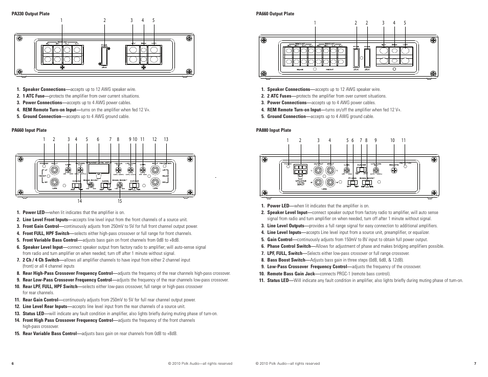 polk audio pa880 user manual | page 4 / 29 | also for ... clarion db265mp car audio wiring diagram #8