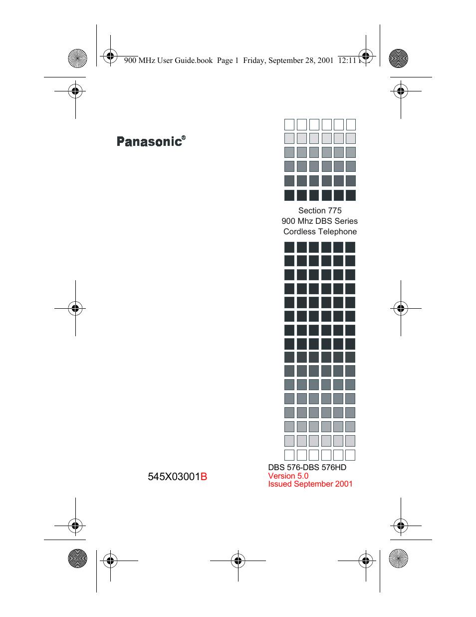 panasonic 900 mhz user manual