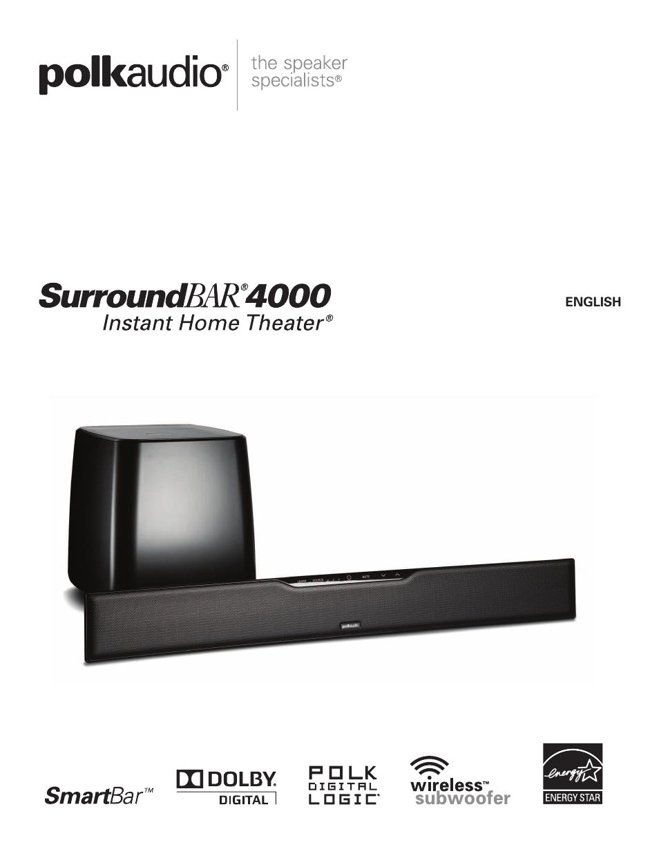 polk audio surroundbar 4000 user manual 12 pages rh manualsdir com polk audio surroundbar 6500bt manual polk audio surroundbar 6500bt manual
