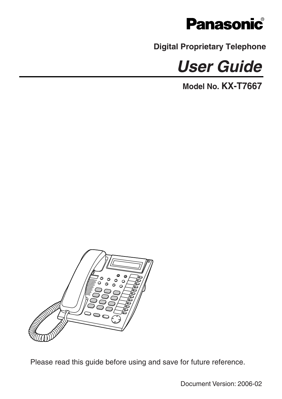 panasonic kx t7667 user manual 10 pages rh manualsdir com Panasonic Kx Phone Manual Tgf350 Panasonic Kx TG4021 Manual