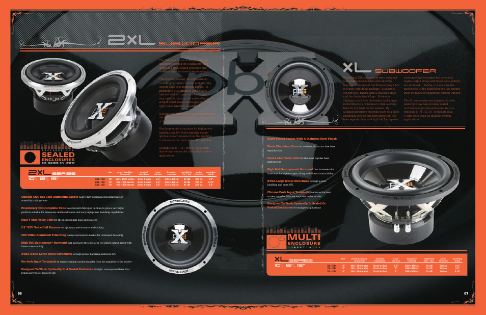07 xtreme, Multi, Subwoofer | PowerBass Xtreme XL User