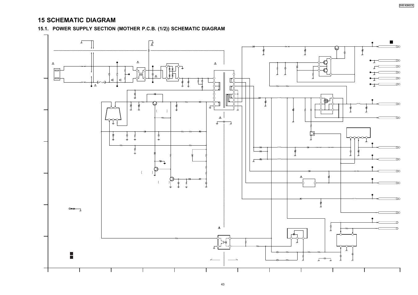 Panasonic Schematic Diagram Doing Wiring The New Way Washing Machine Pdf 15 Cold Hot Dvd K29gcs User Manual Rh Manualsdir Com Crt Tv Microwave Oven