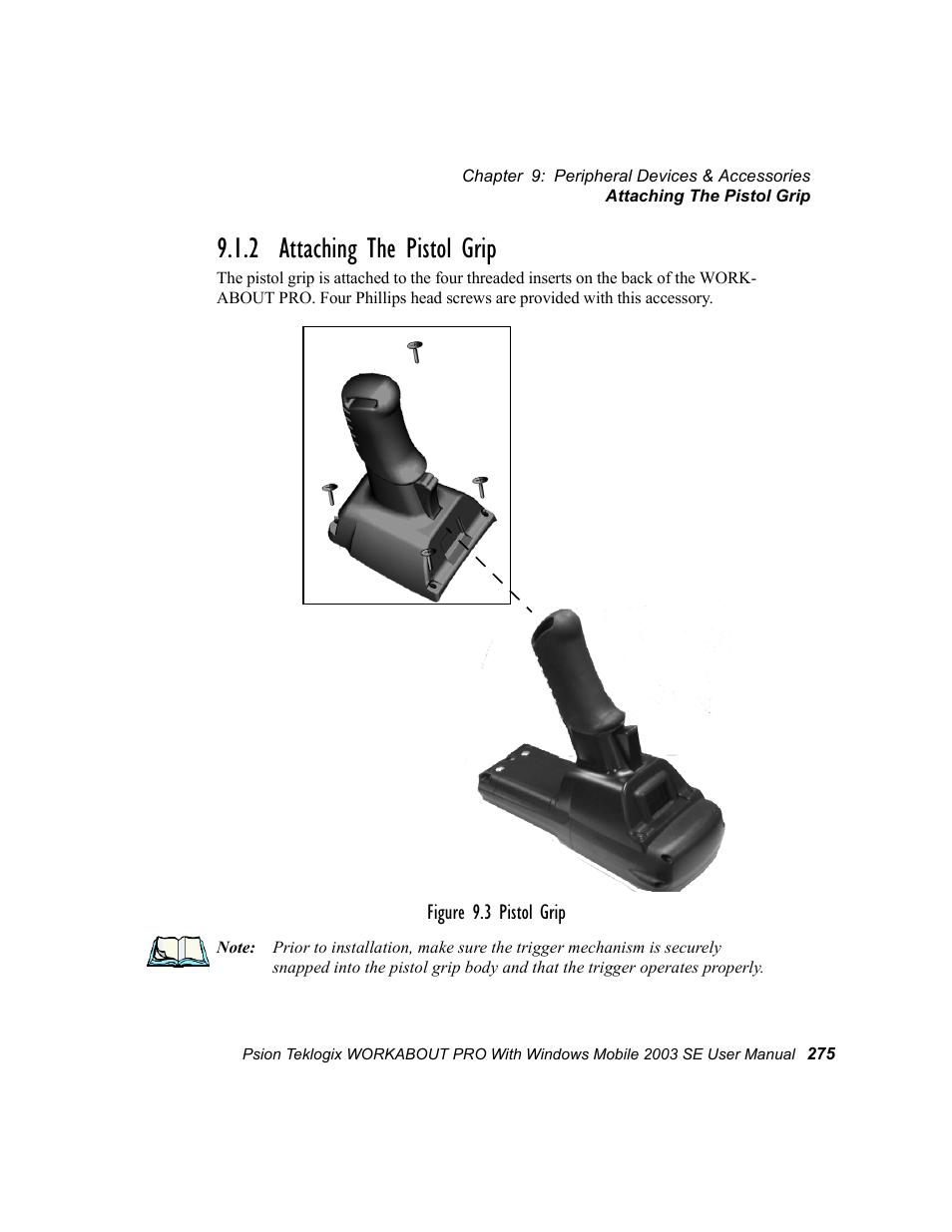 2 Attaching The Pistol Grip