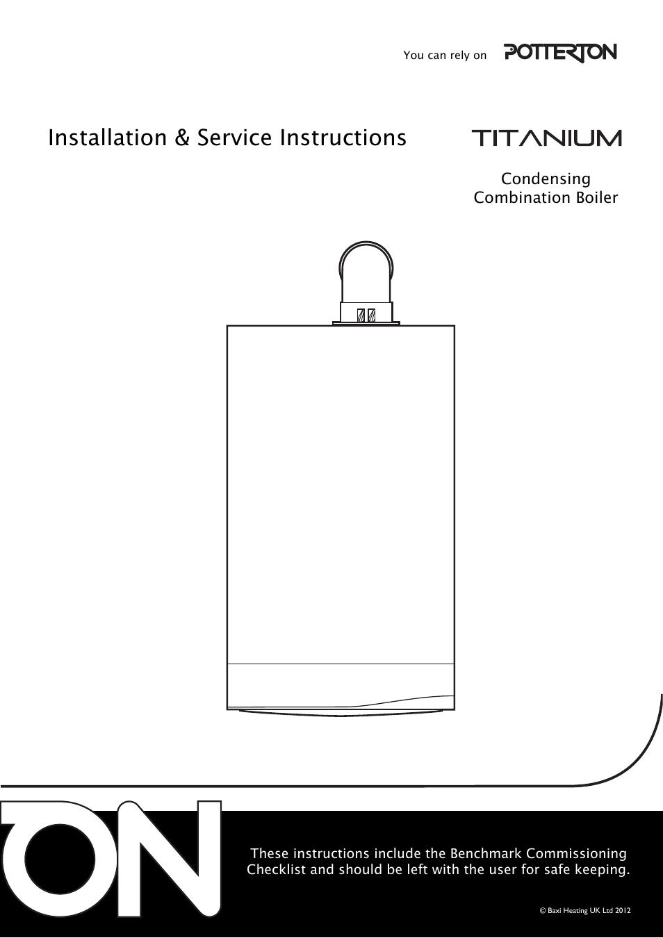 Hive And Potterton Titanium Manual Guide