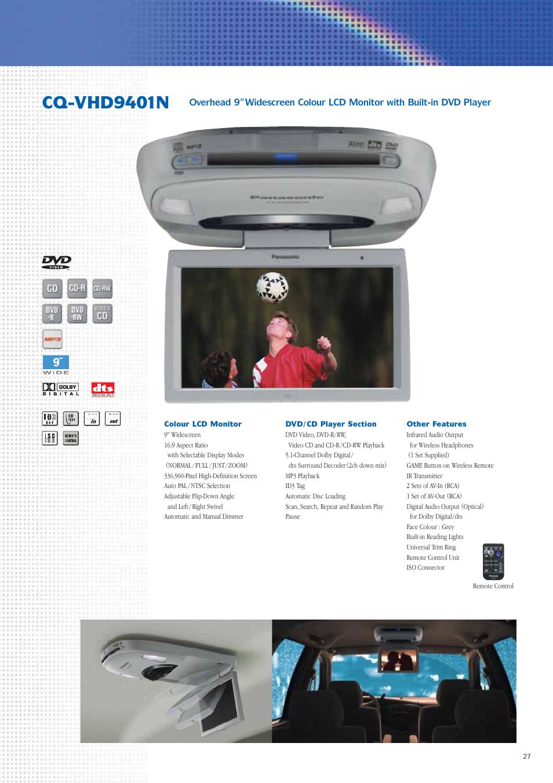 cq vhd9401n panasonic car audio dvd car navigation system user rh manualsdir com Panasonic Portable DVD Player Cases Panasonic DVD Player Support