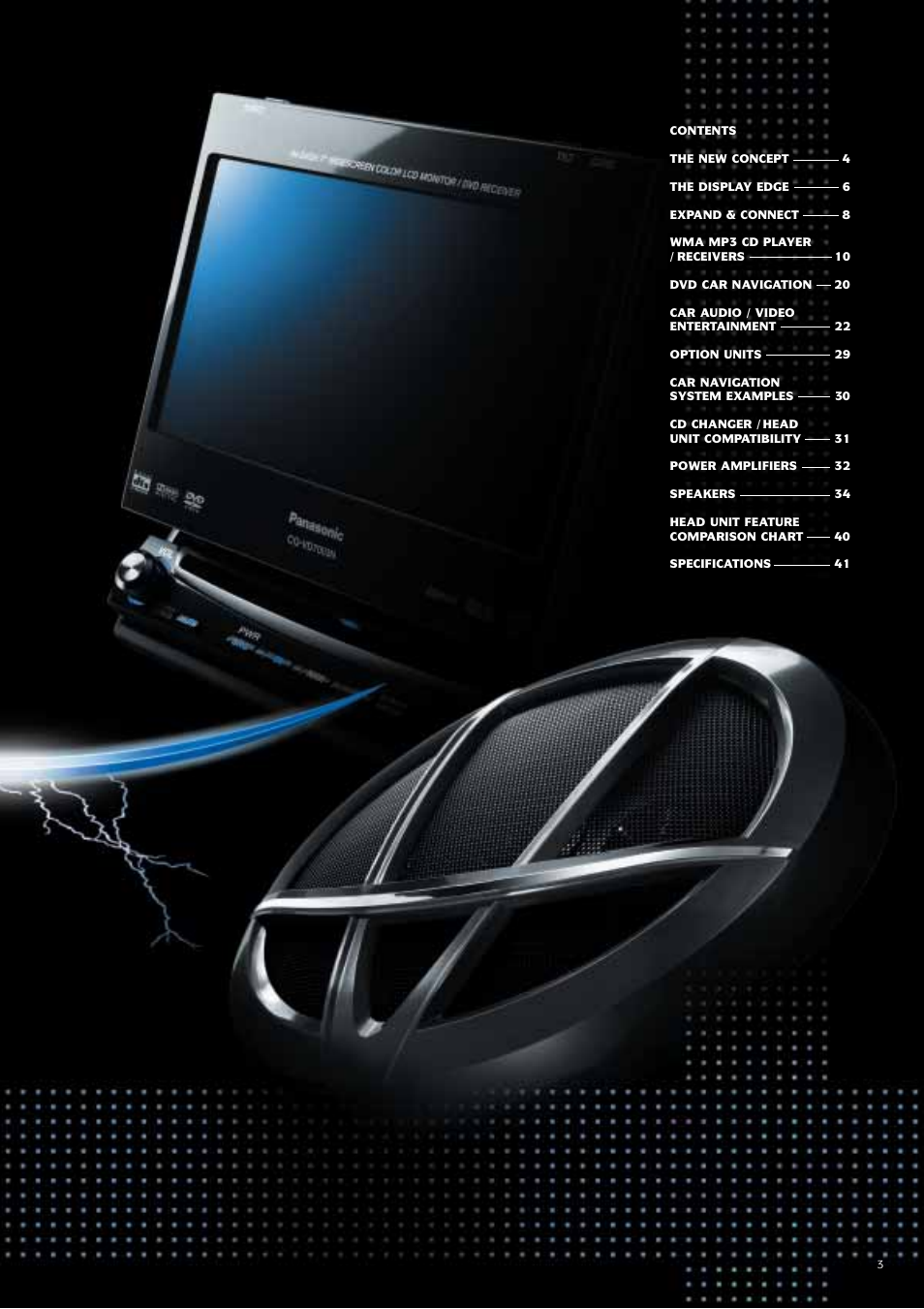 Panasonic Car Audio & DVD Car Navigation System User Manual | Page 3 / 44
