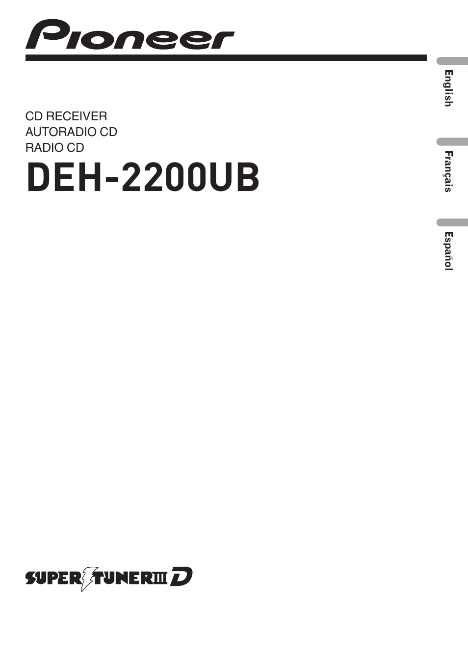 pioneer deh 2200ub user manual 75 pages also for yrd5301bs rh manualsdir com pioneer deh-2200ub wiring diagram pioneer deh-2200ub manual español