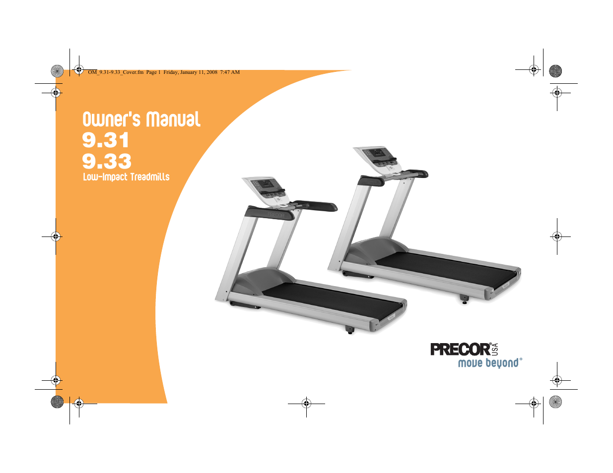 precor low-impact treadmills 9 33 user manual | 86 pages | also for:  low-impact treadmills 9 31