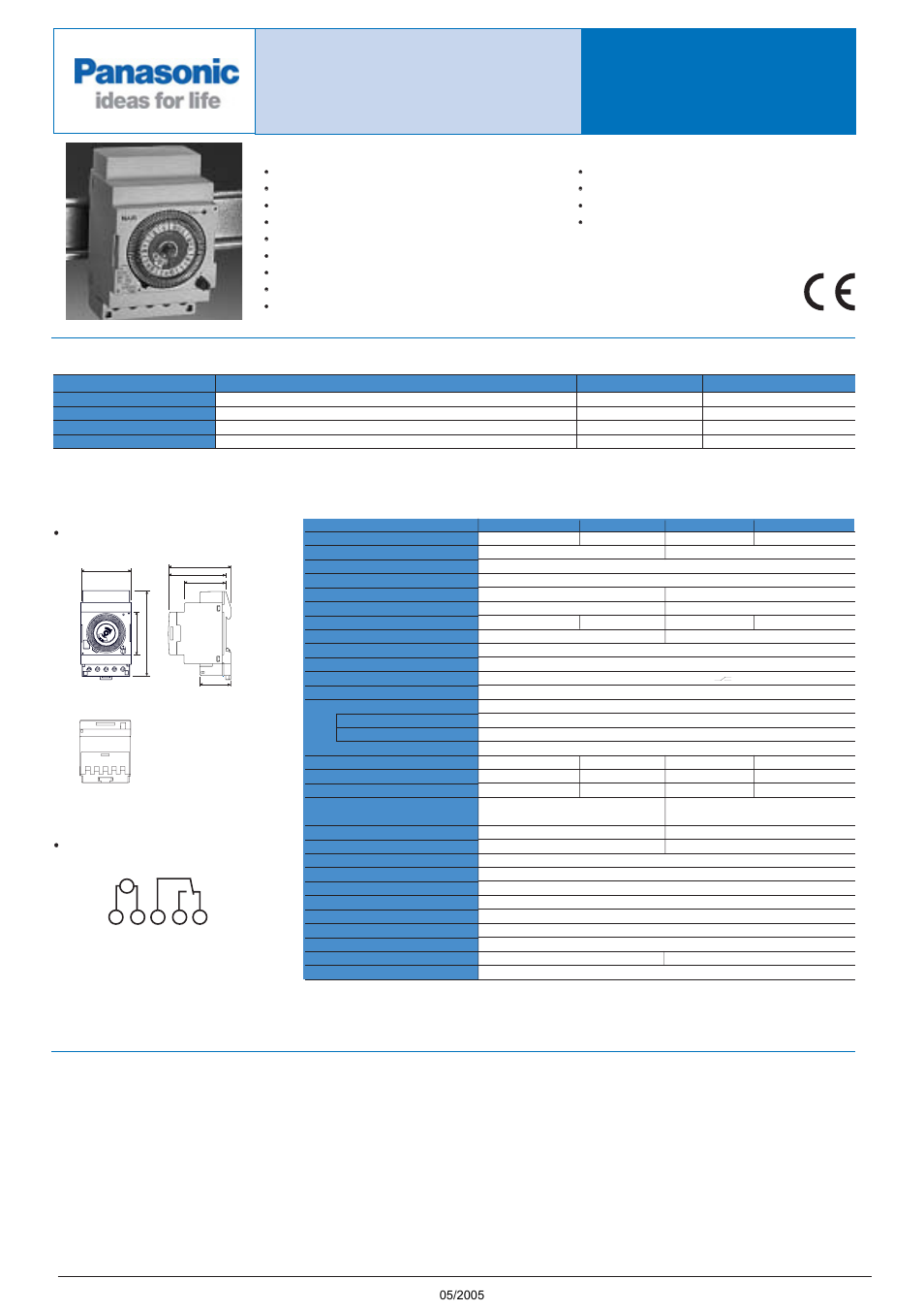 Panasonic Tb5560187 User Manual 3 Pages Switch Wiring Diagram