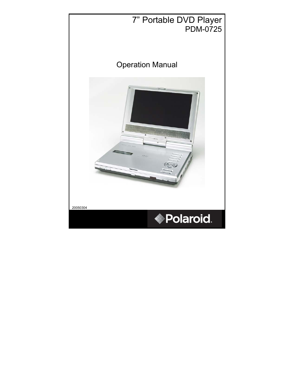 polaroid pdm 0725 user manual 43 pages rh manualsdir com Walmart Dual Portable DVD Player CNET Top DVD Player Portable