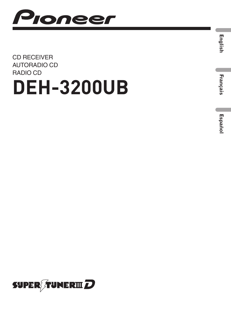 pioneer deh 3200ub user manual 80 pages rh manualsdir com pioneer radio deh-3200ub manual pioneer deh-3200ub wiring manual