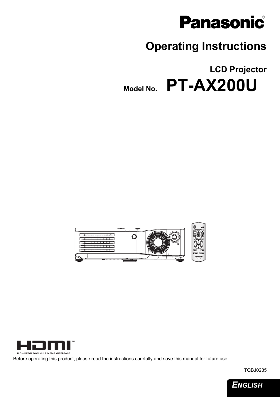 panasonic pt ax200u user manual 54 pages rh manualsdir com Panasonic Technical Support panasonic pt-ax200u manual