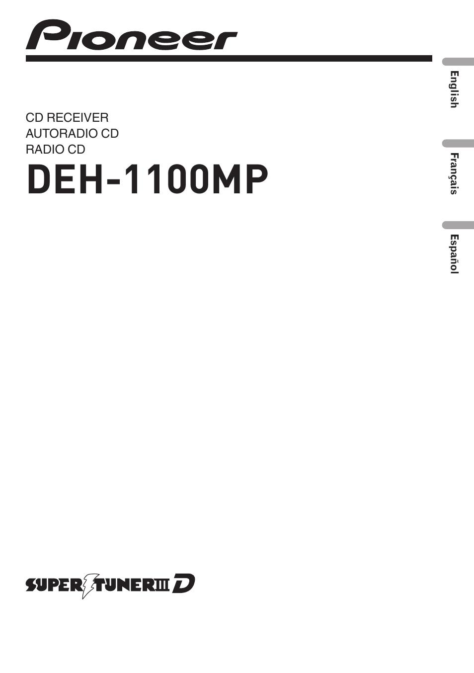 pioneer deh 1100mp user manual 62 pages rh manualsdir com pioneer deh-1100mp wiring diagram pioneer radio deh 1100mp manual