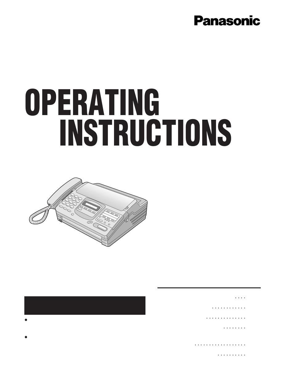 Инструкция panasonic kh f780bx