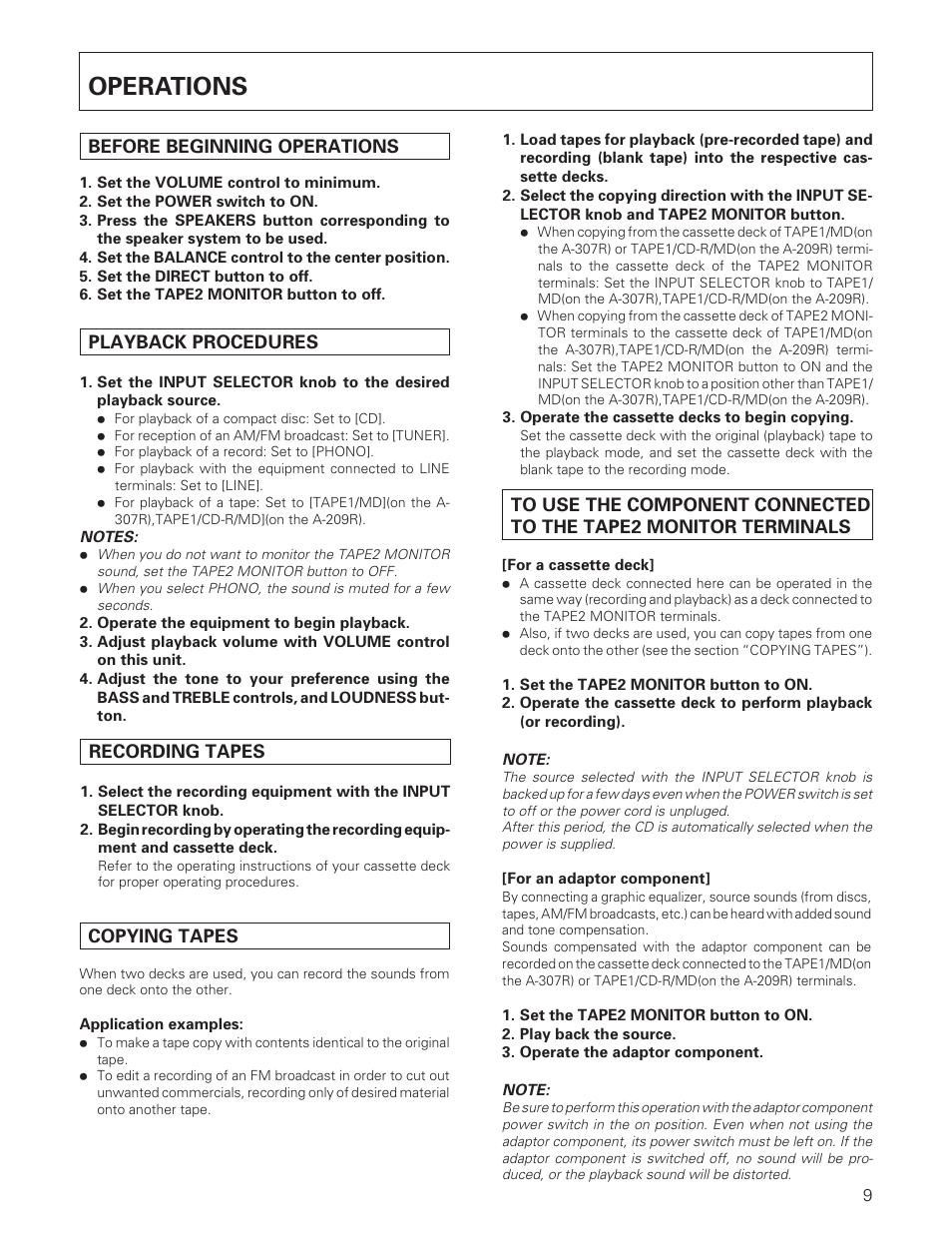 operations pioneer a 307r a 209r user manual page 9 12 rh manualsdir com