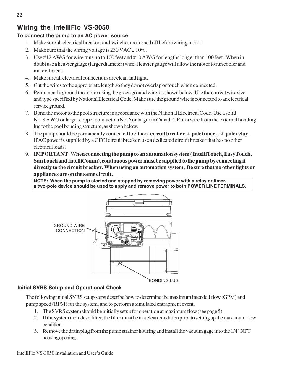 Wiring The Intelliflo Vs  44