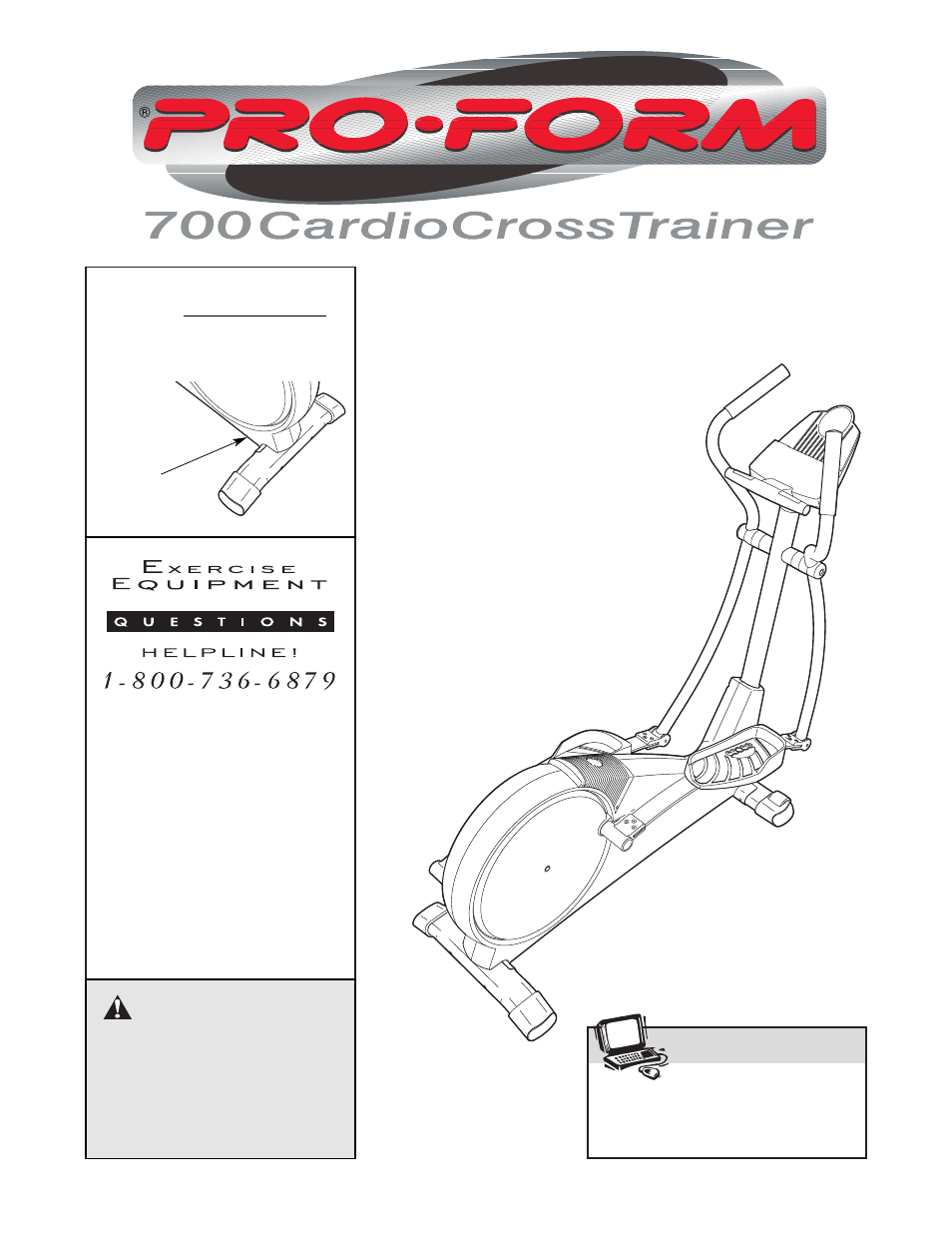 Proform 700 user manual   24 pages.