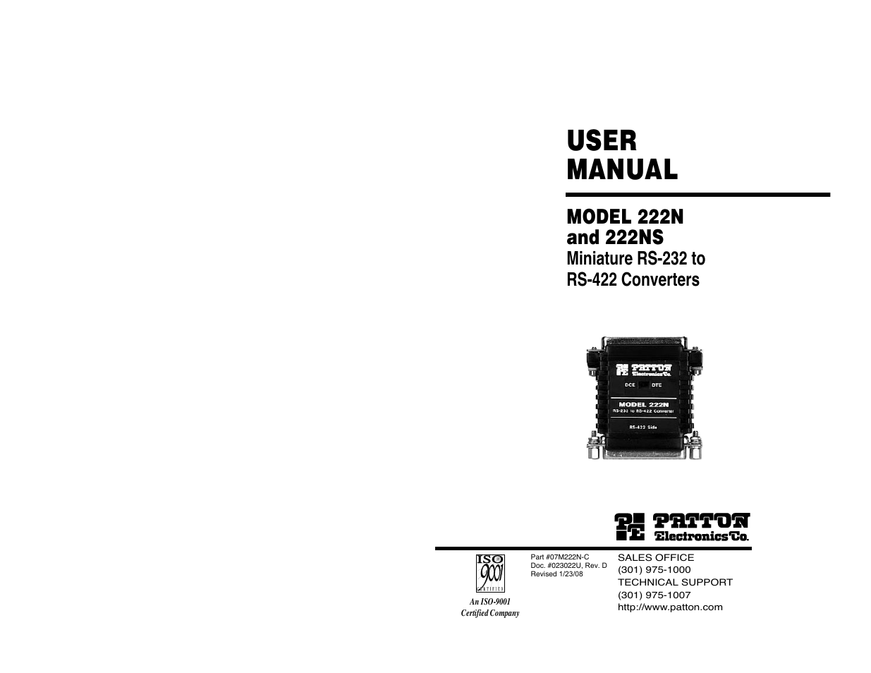 patton electronic 222n user manual 20 pages also for 222ns rh manualsdir com
