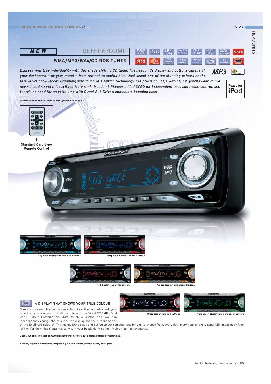 deh p6700mp n e w wma mp3 wav cd rds tuner pioneer car cd mp3 rh manualsdir com pioneer deh-p6700mp wiring diagram Pioneer Deh P6700mp Owner's Manual