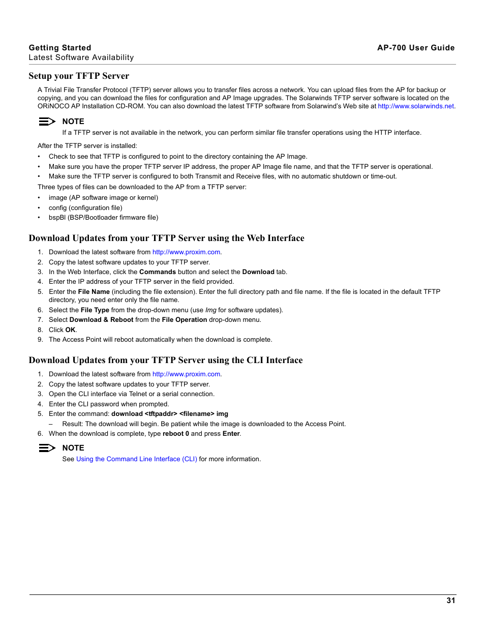 Setup your tftp server | Proxim ORiNOCO AP-700 User Manual