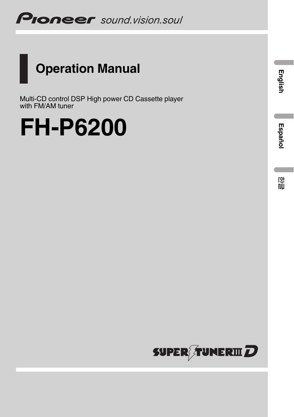 pioneer fh p6200 user manual 44 pages rh manualsdir com User Manual Template Manuals in PDF