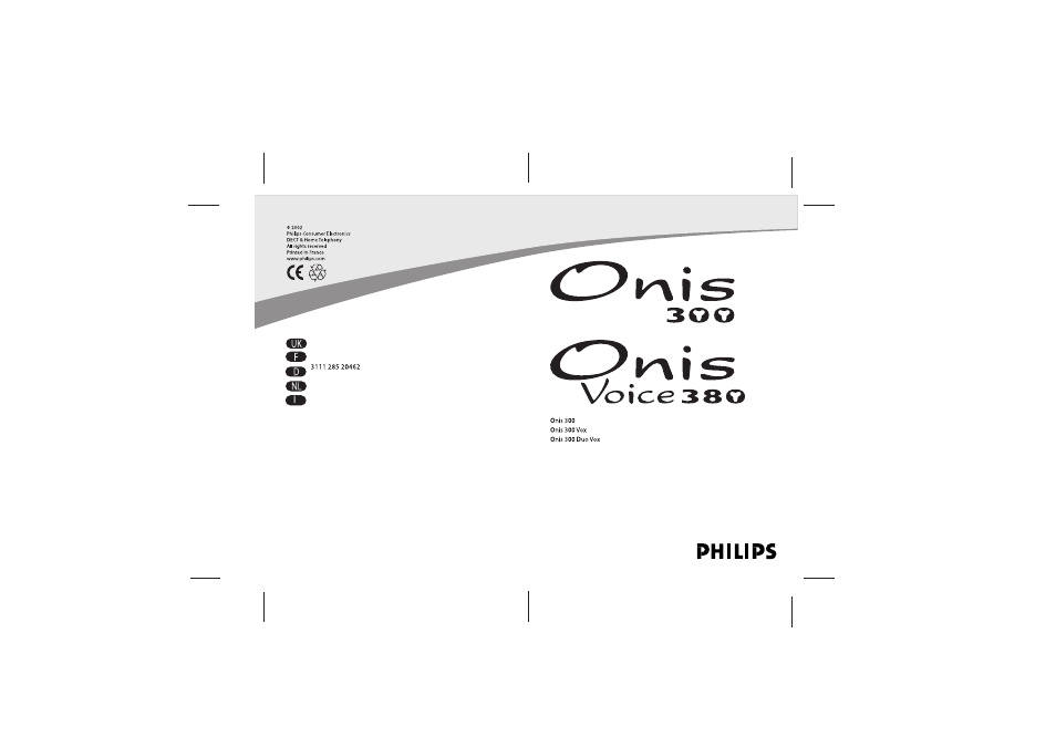 philips onis 300 vox user manual 47 pages also for onis 300 rh manualsdir com