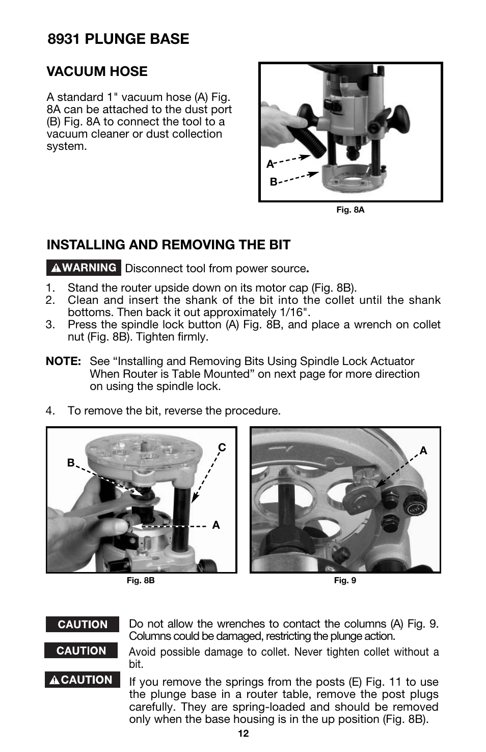 8931 plunge base installing and removing the bit vacuum hose 8931 plunge base installing and removing the bit vacuum hose porter cable 891 user manual page 12 23 greentooth Image collections