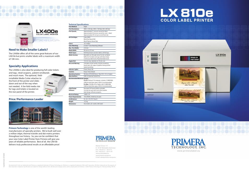 Primera lx400 color label printer | primera label printers | printers.