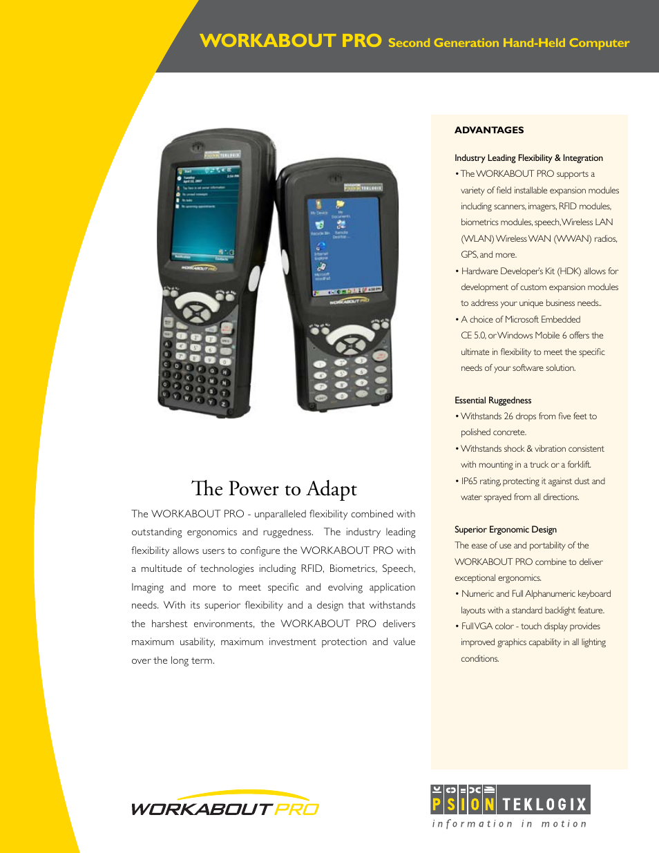 Psion Teklogix WORKABOUT PRO User Manual