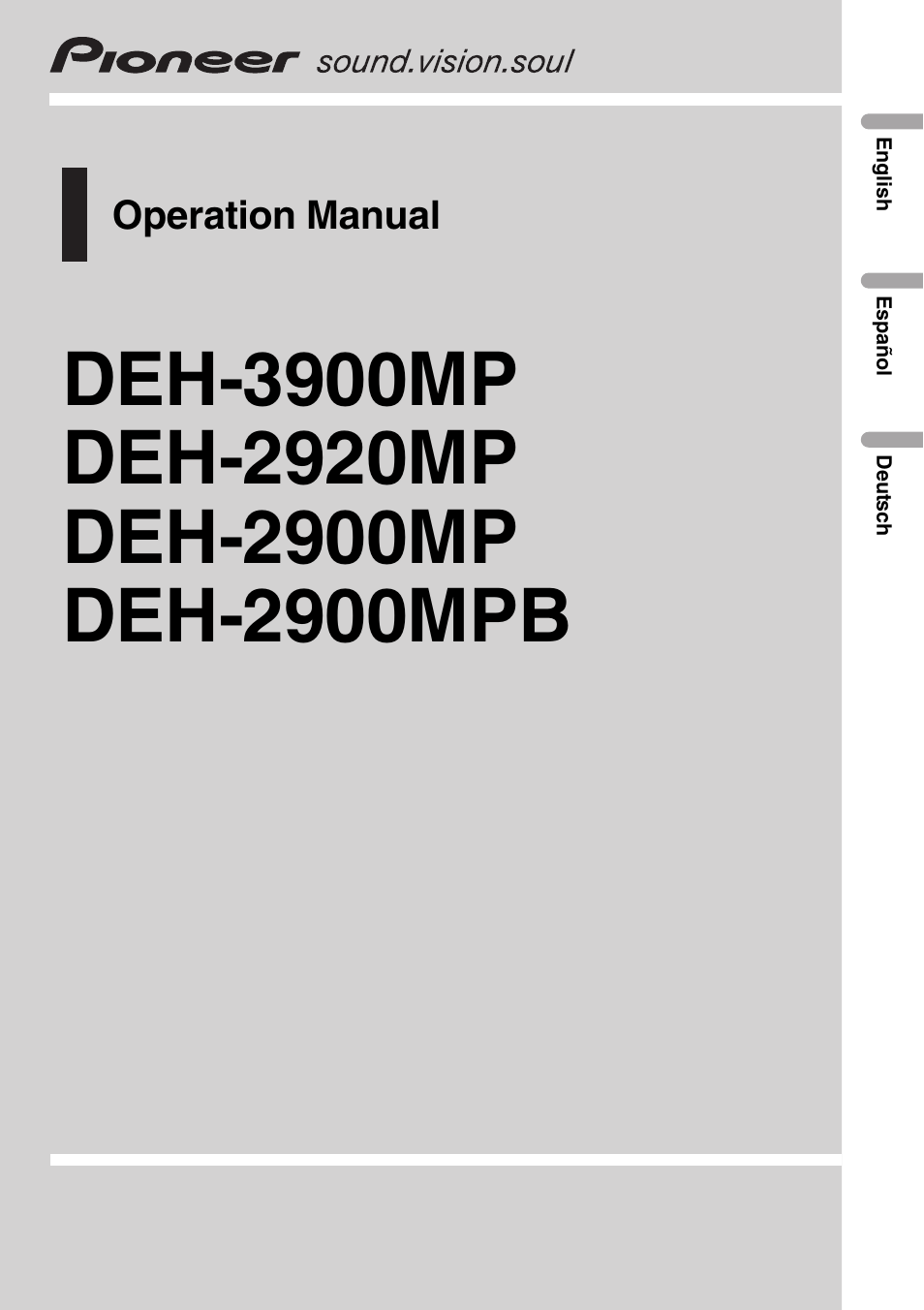 pioneer deh 3900mp de user manual 60 pages also for deh 2900mp rh manualsdir com pioneer deh p3900mp manual pioneer deh-p3900mp installation manual