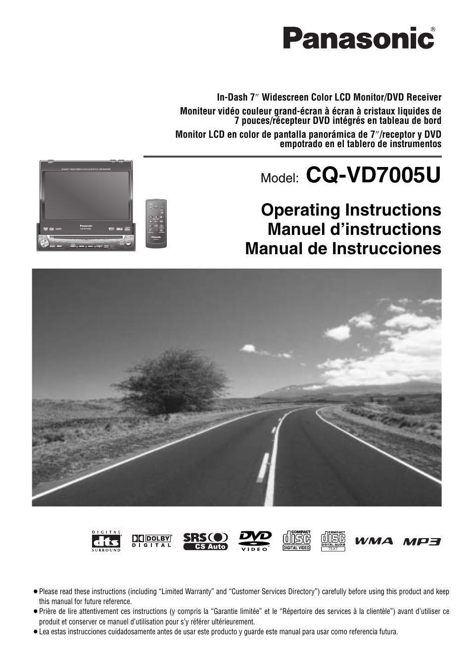 Panasonic Cq Vd7001u Wiring Diagram 35 Images C1301u Vd7005u Page1 User Manual 52 Pages