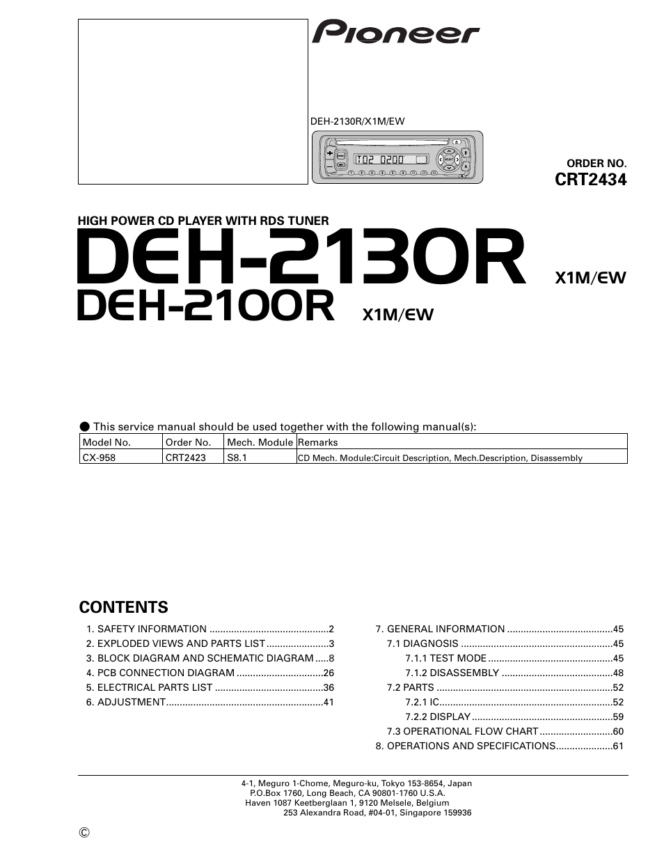 Pioneer Deh 36 Wiring Diagram Free Download 245 2130r En User Manual 66 Pages Also For 2100r P5900ib