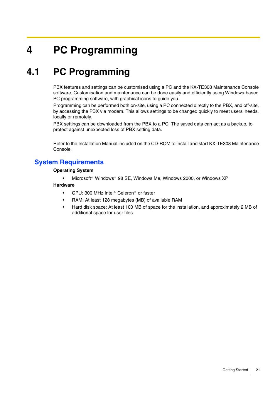 4 pc programming 1 pc programming system requirements panasonic rh manualsdir com kx-teb308 user manual panasonic teb308 user manual