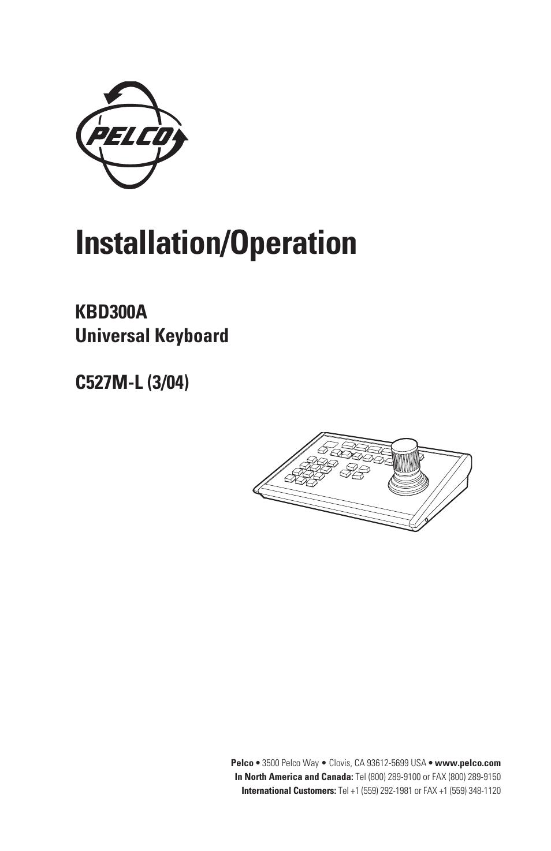pelco universal keyboard kbd300a user manual 40 pages rh manualsdir com pelco kbd300a installation manual Pelco KBD300A Kit
