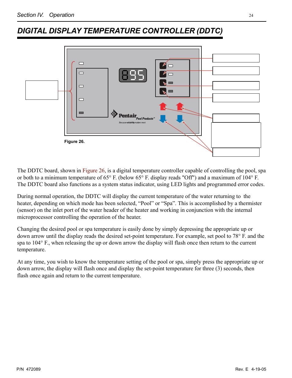 Digital display temperature controller (ddtc) | Pentair