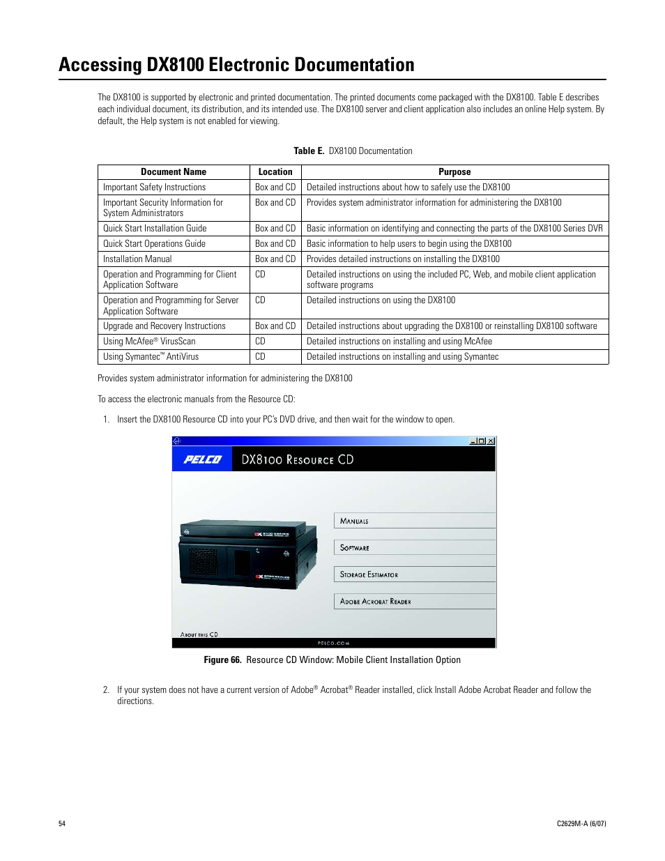 accessing dx8100 electronic documentation dx8100 documentation rh manualsdir com Pelco DX8100 Client Pelco DX8100 Viewer