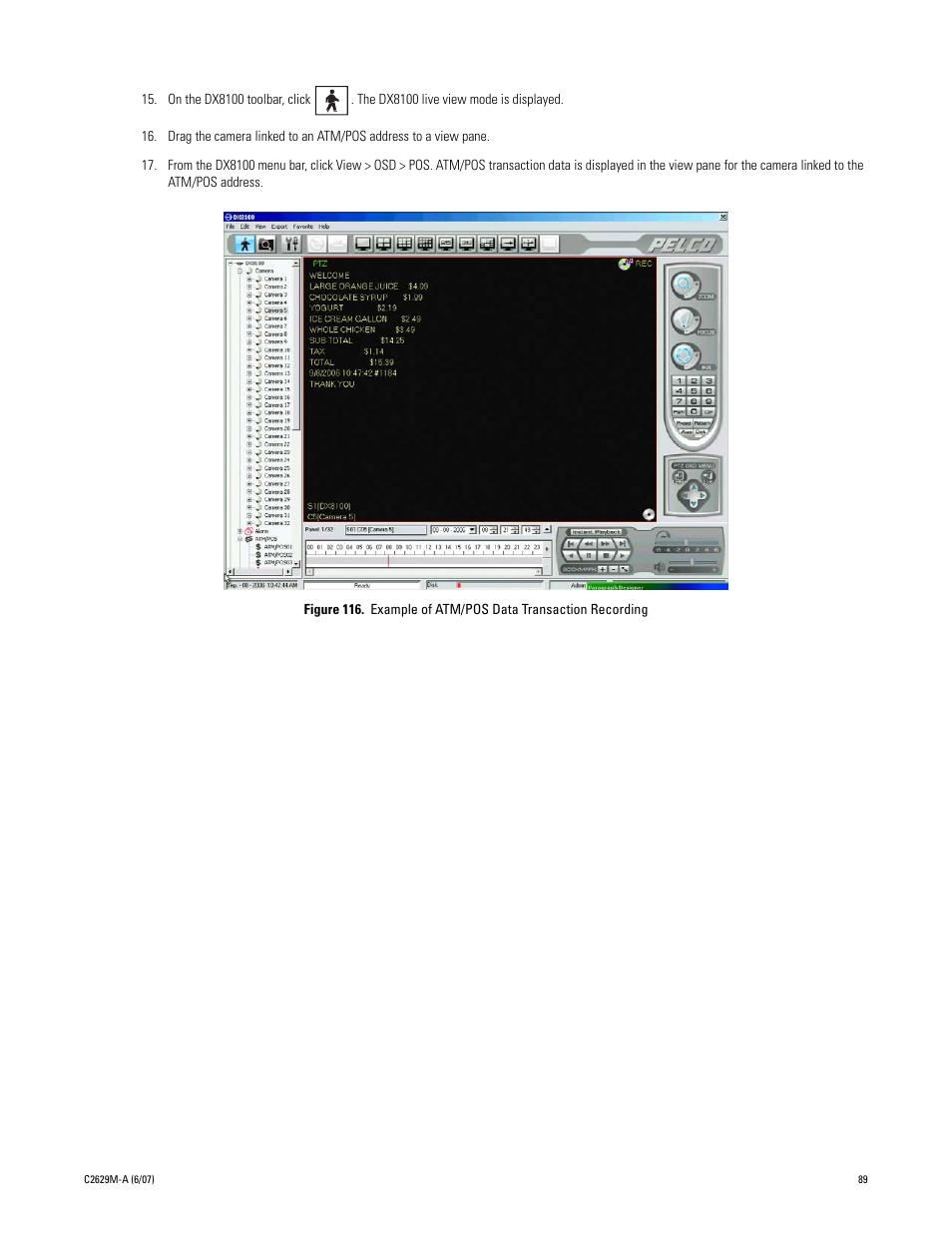 example of atm pos data transaction recording pelco dx8100 user rh manualsdir com pelco dx8100 user guide pelco dx8000 user manual