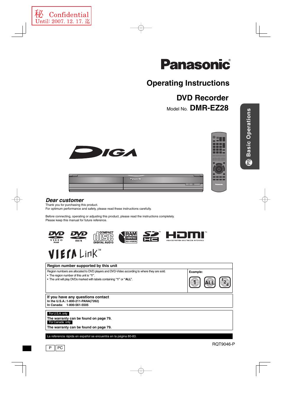 Panasonic Dmr Ez28 User Manual 84 Pages Nikon D40 Usb Cable Schematic