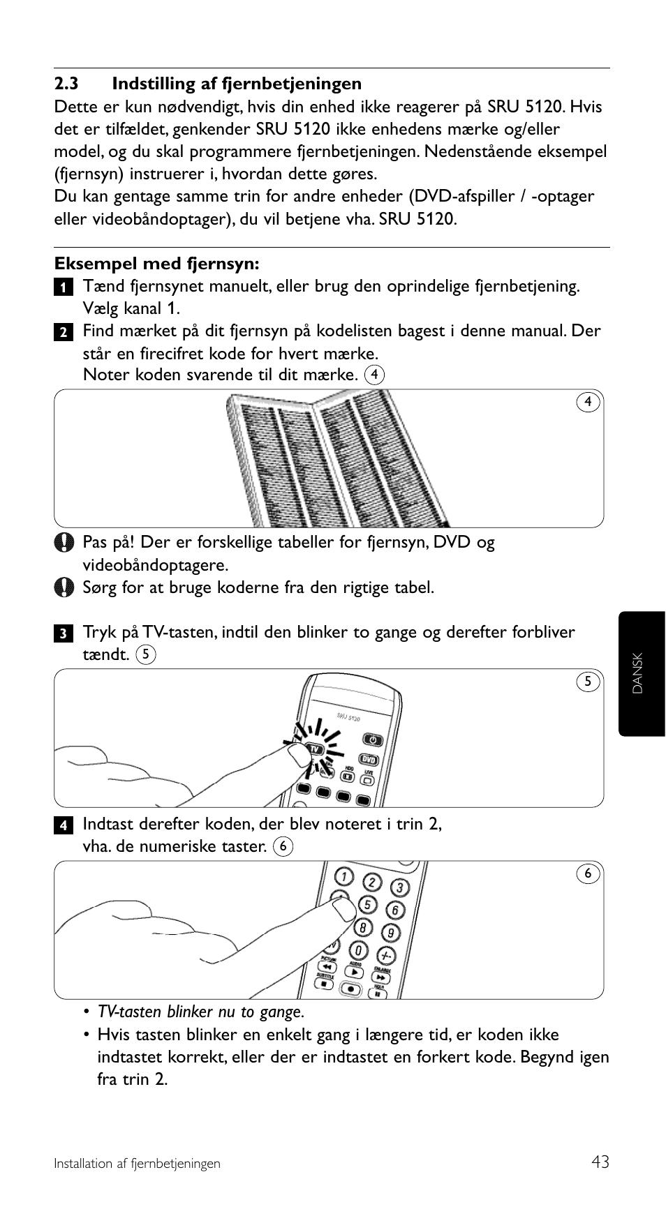 6058130ac36 Philips SRU 5120/86 User Manual | Page 43 / 96