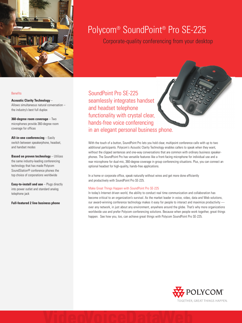 polycom soundpoint pro 2200 06325 001 user manual 2 pages also rh manualsdir com polycom soundpoint pro se-225 corded phone manual polycom soundpoint pro se-225 manual