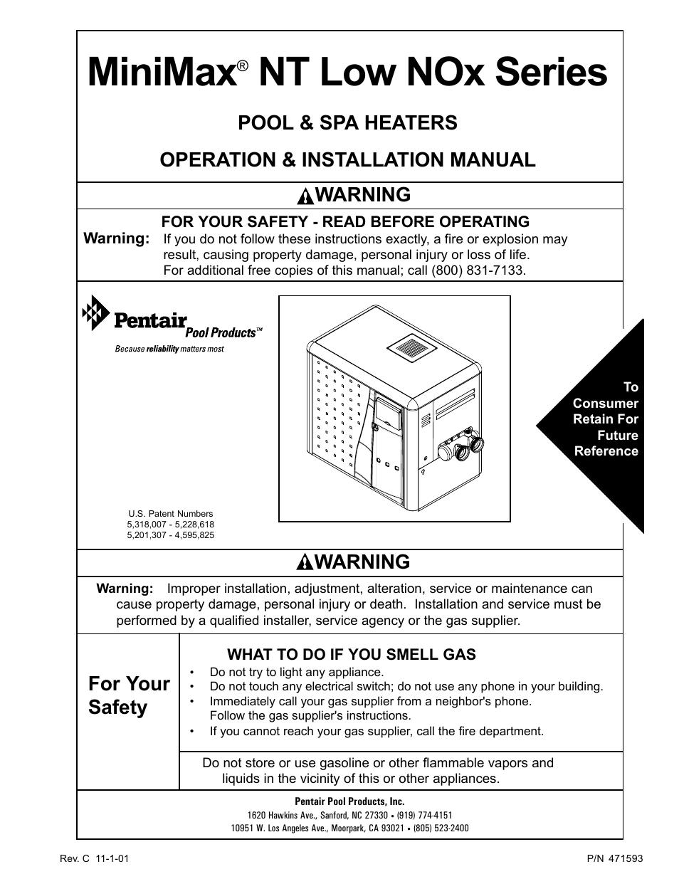 Pentair Minimax 250 User Manual