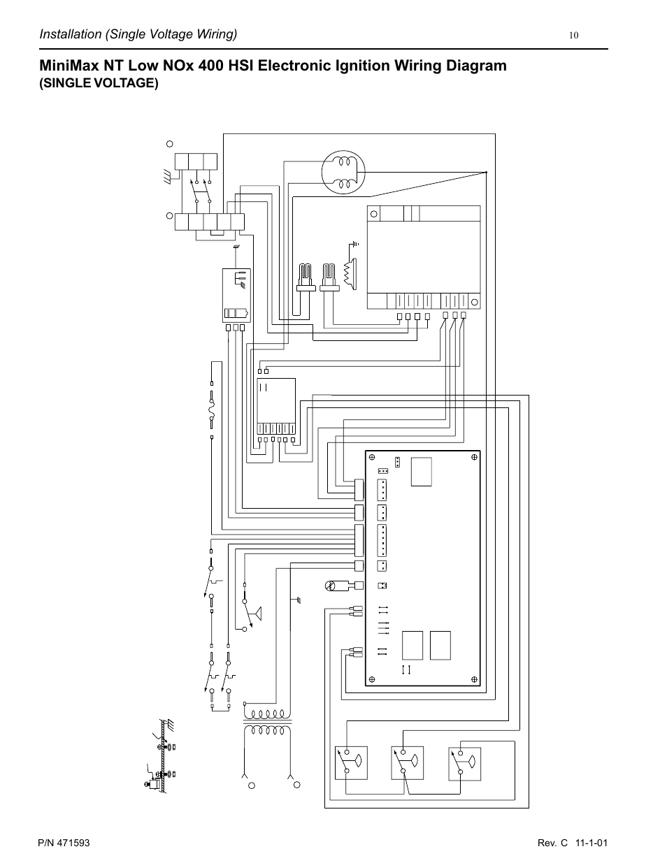 installation wiring diagram for industri installation (single voltage wiring), single voltage ...