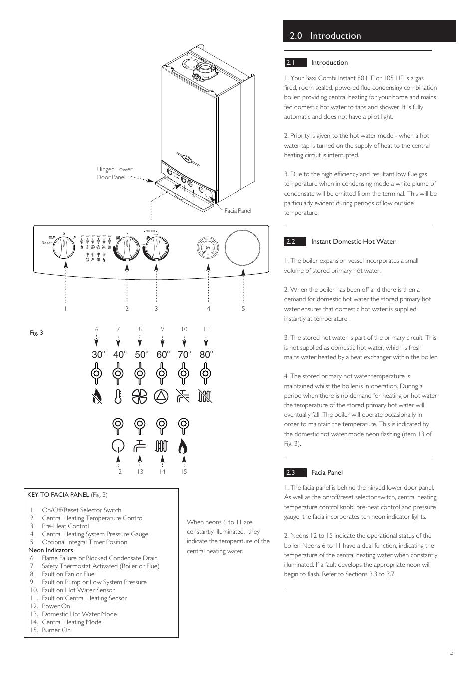0 introduction | Baxi Potterton BAXI COMBI INSTANT 105 HE User Manual |  Page 5 / 12