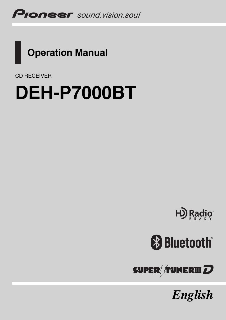 pioneer deh p7000bt user manual 77 pages rh manualsdir com pioneer radio deh-p7000bt manual pioneer deh-p7000bt manual español
